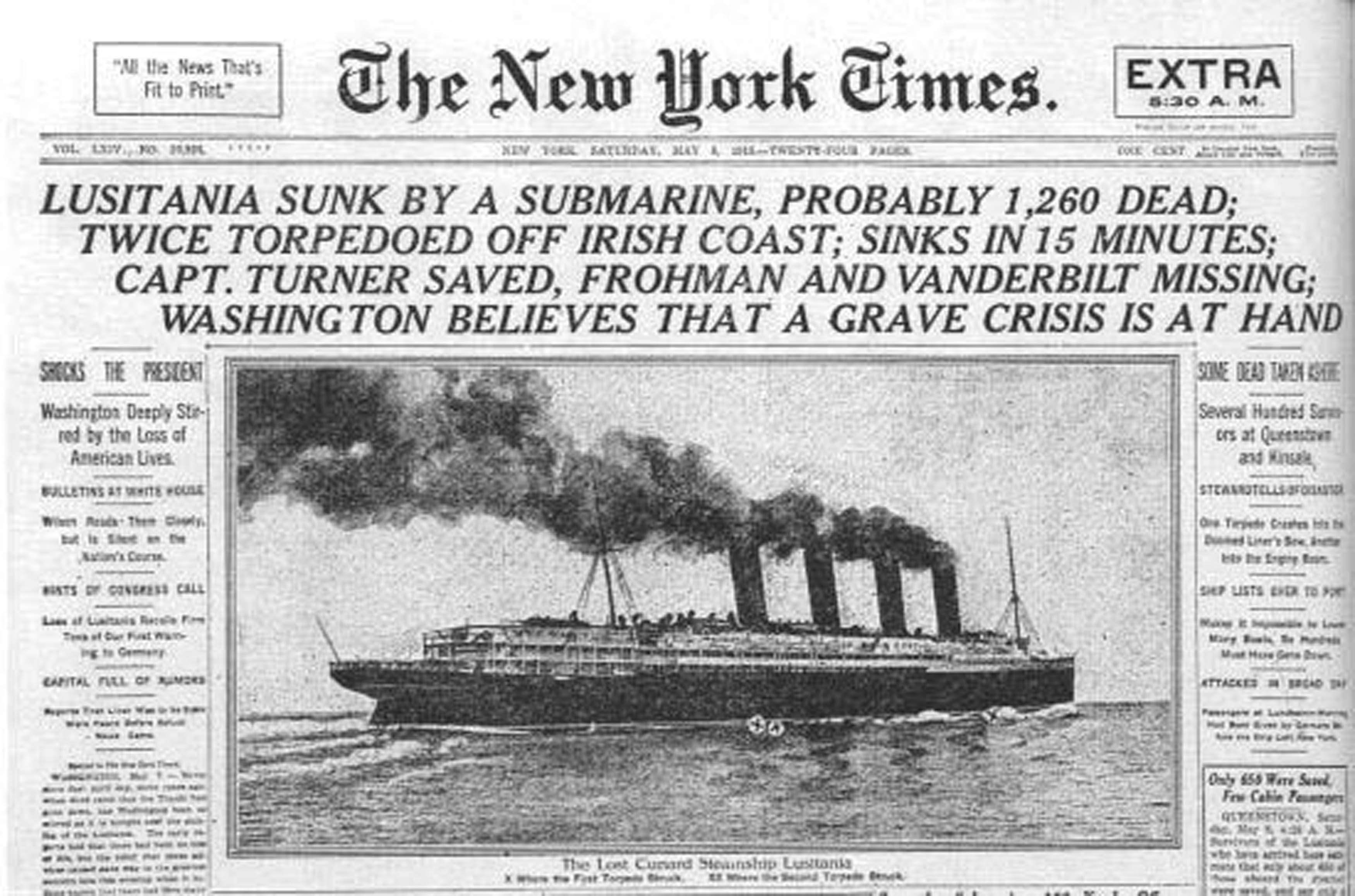 Rms lusitania wreck rms lusitania wreck quotes - Media Coverage