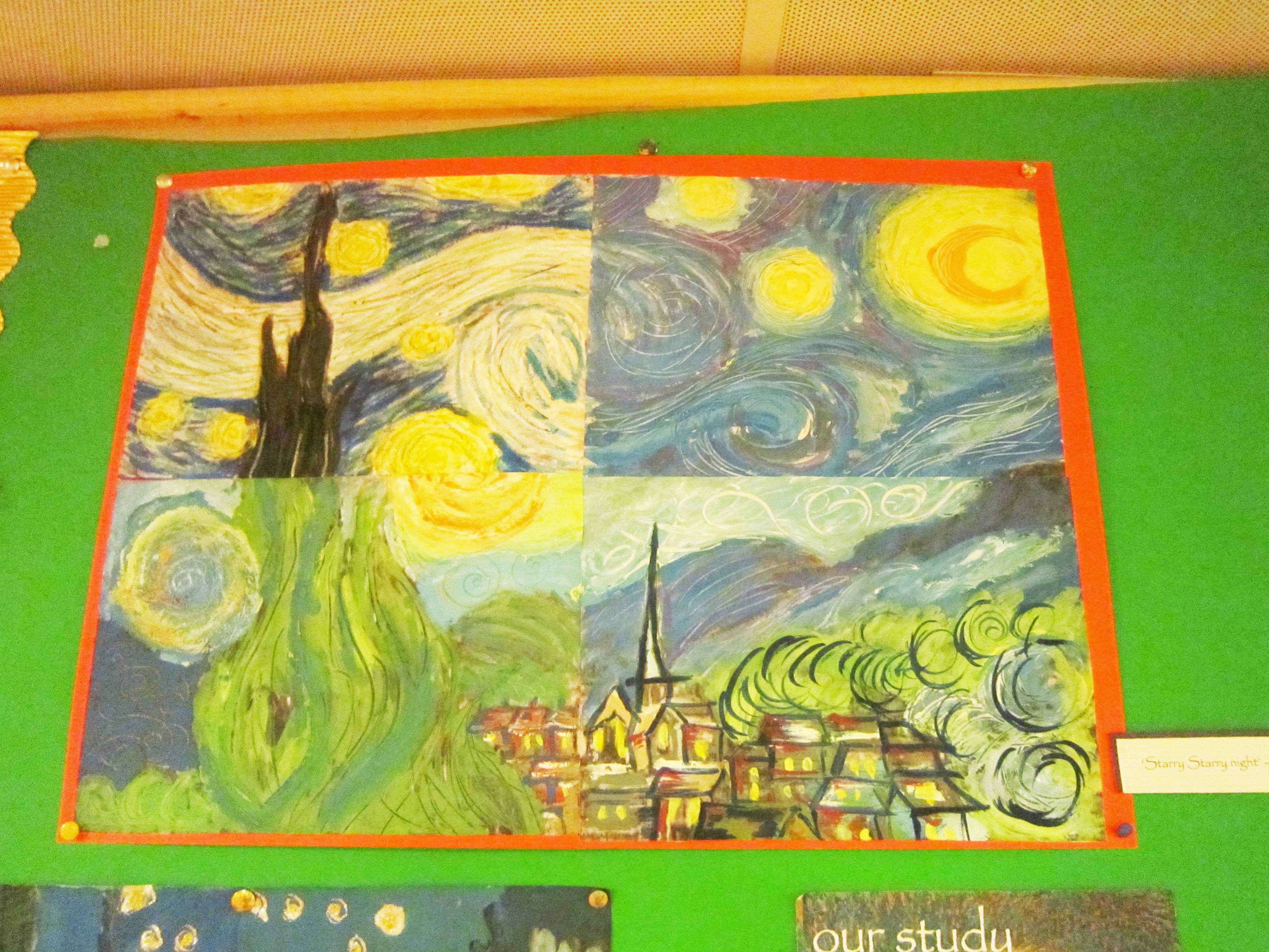 Our Study Of Vincent Van Gogh Beaumount Hospital School